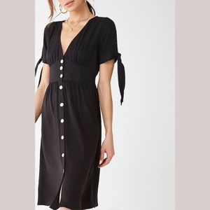 Button up 1940's Style Vintage Midi Dress